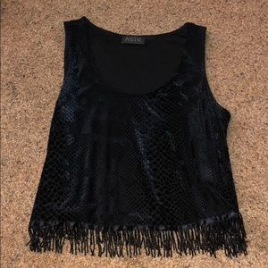 ASTR black snake skin tank with beads